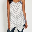 patterned tank with embro
