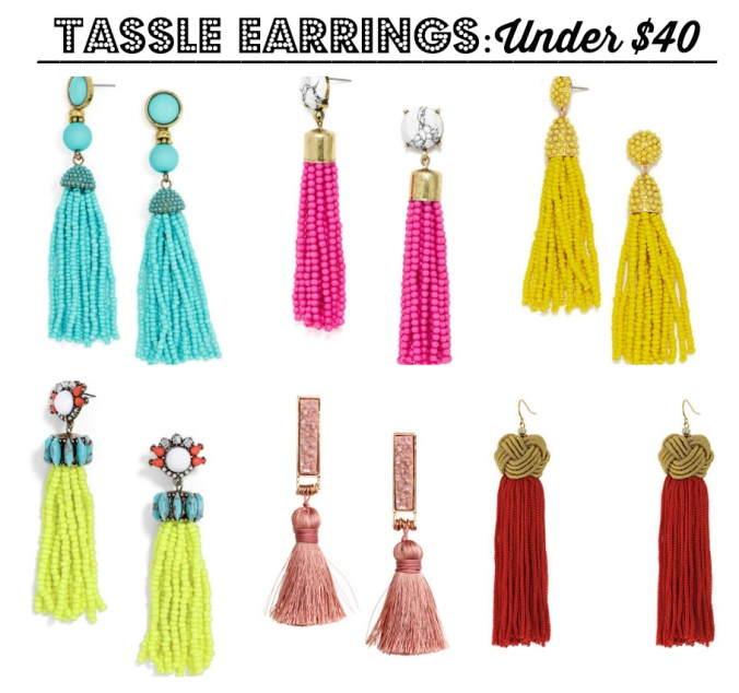 tassle earring collage under 40