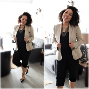 """6 Ways To Style a Khaki Blazer"" OUTFIT DETAILS: https://thehoneygoldguru.com/2016/10/10/6-ways-to-wear-a-khaki-blazer/"