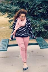 """4 Ways to Wear (Pink) Jeggings: Spring Edition"" OUTFIT DETAILS: https://thehoneygoldguru.com/2017/02/22/4-ways-to-wear-pink-jeggings-spring-edition/"